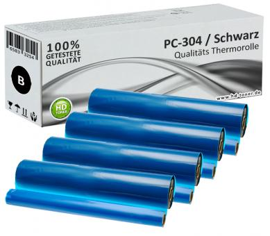 4x Alternativ Brother Thermo-Transfer-Rolle PC-304RF