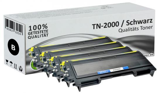 Spar Set 4x Alternativ Brother TN-2000 Toner