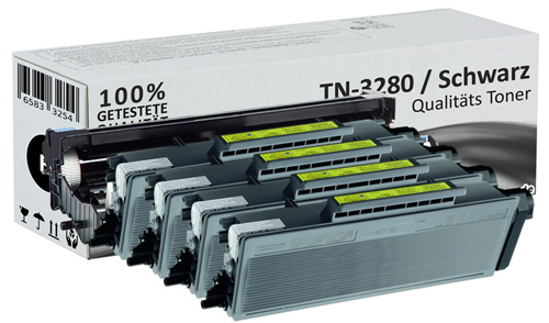 Set Alternativ Brother 4x Toner TN3280 + DR3200 Trommel