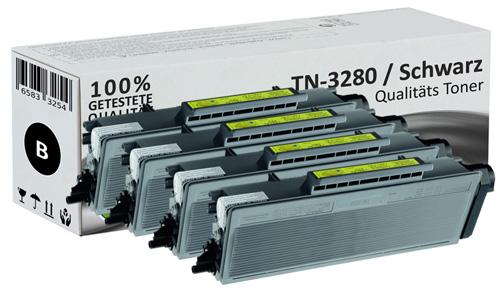 Set 4x XL Alternativ Brother Toner TN-3280