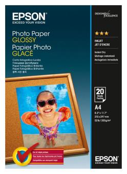 Epson Fotopapier DIN A4 - glänzend - 200g - 20 Blatt