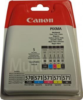 5x Original Canon Patronen PGI-570 CLI-571 im Set