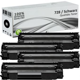 4x Alternativ Canon Toner 728 Schwarz Set