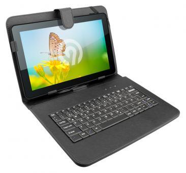 Ninetec Micro-USB Keyboard Case für 10 Zoll Tablets