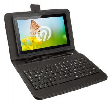 Ninetec Micro-USB Keyboard Case für 7 Zoll Tablets