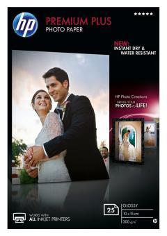 HP Fotopapier 10 x 15 / CR677A - glänzend - 300g - 25 Blatt