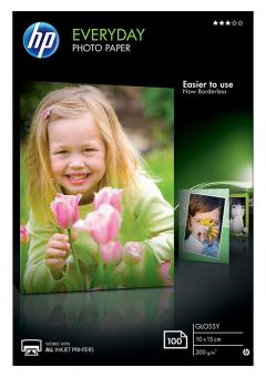 HP Fotopapier 10 x 15 / CR757A - glänzend - 200g - 100 Blatt