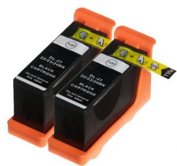 Alternativ Patronen Dell 21,22,23,24  2x Schwarz