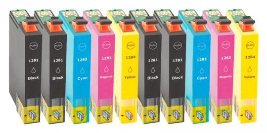 Multipack 10x Alternativ Druckerpatronen Epson T1285