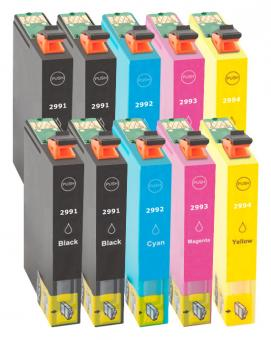 10x Alternativ Epson Patronen 29 XL (Erdbeere) Set
