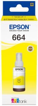 Original Epson Tinte T664 Yellow/Gelb