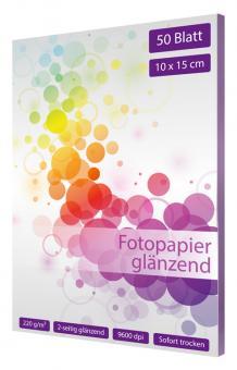 Fotopapier 10 x 15 - glänzend - 200g - 50 Blatt