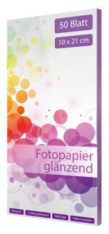 Fotopapier 10 x 21 - glänzend - 260g - 50 Blatt
