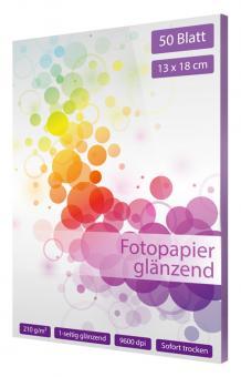 Fotopapier 13 x 18 - glänzend - 210g - 50 Blatt