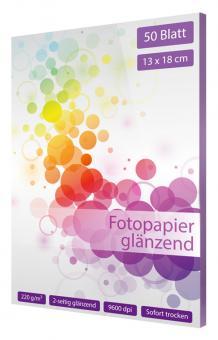 Fotopapier 13 x 18 - glänzend - 220g - 50 Blatt