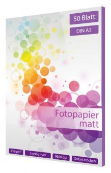 Fotopapier DIN A3 - 2 seitig matt - 210g - 50 Blatt