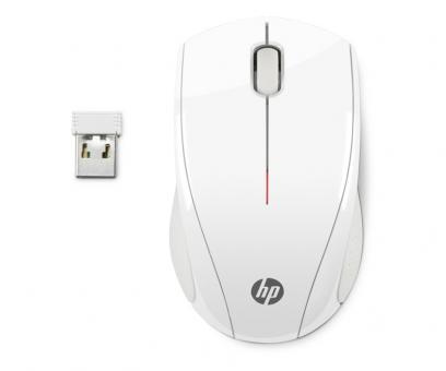 HP Wireless-Maus X3000 schnurlos weiß