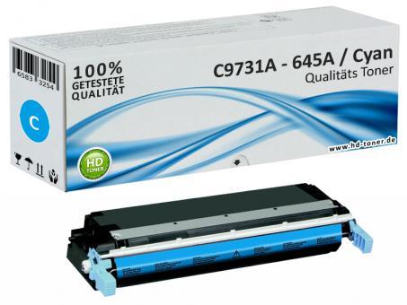 Alternativ HP Toner 645A C9731A Cyan