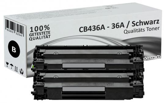 Sparset 2x Alternativ HP Toner CB436A / 36A Schwarz