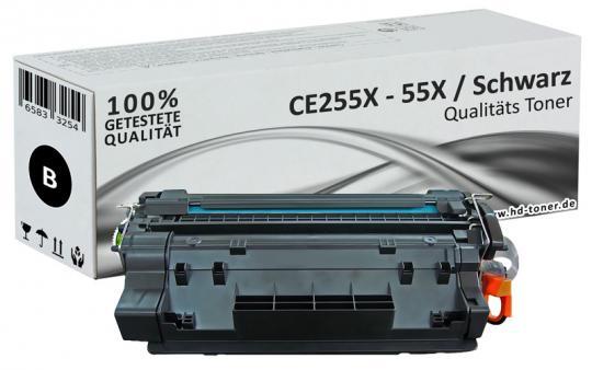 Alternativ HP Toner 55X CE255X Schwarz