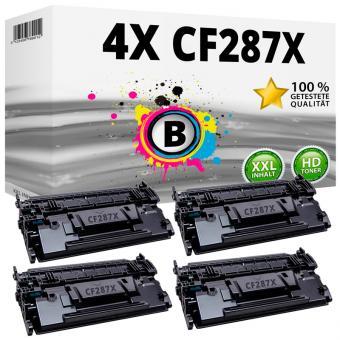 Alternativ HP Toner Set 87X / CF287X 4x Schwarz