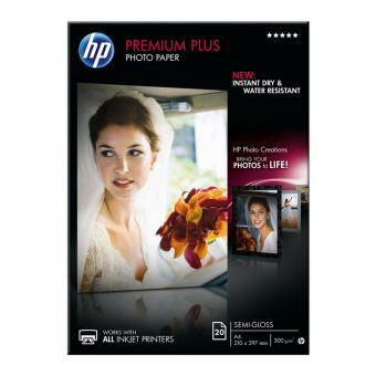 HP Fotopapier DIN A4 / CR673A - seidenmatt - 300 g/m² - 20 Blatt