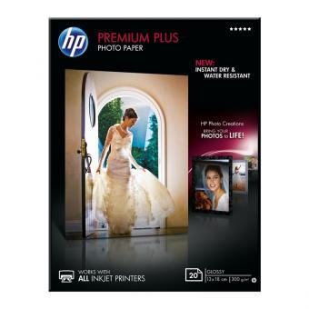 HP Fotopapier 13 x 18 / CR676A - glänzend - 300 g/m² - 20 Blatt