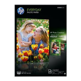 HP Fotopapier DIN A4 / Q5451A - glänzend - 200 g/m² - 25 Blatt