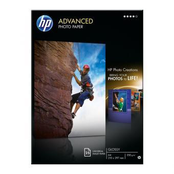 HP Fotopapier DIN A4 / Q5456A - glänzend - 250 g/m² - 25 Blatt
