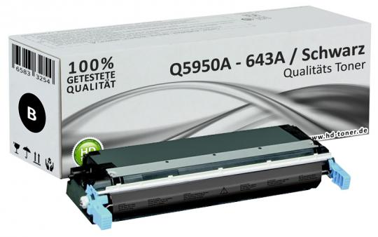 Alternativ HP Toner 643A Q5950A Schwarz