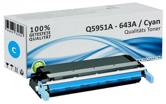 Alternativ HP Toner 643A Q5951A Cyan
