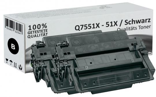 Sparset 2x Alternativ HP Toner Q7551X / 51X Schwarz