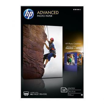 HP Fotopapier 10 x 15 / Q8692A - glänzend - 250 g/m² - 25 Blatt