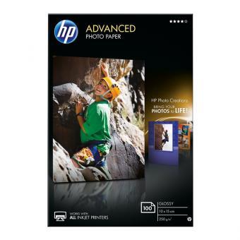 HP Fotopapier 10 x 15 / Q8692A - glänzend - 250 g/m² - 100 Blatt