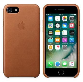 Apple iPhone 7 / 8 Leder Case - Sattelbraun