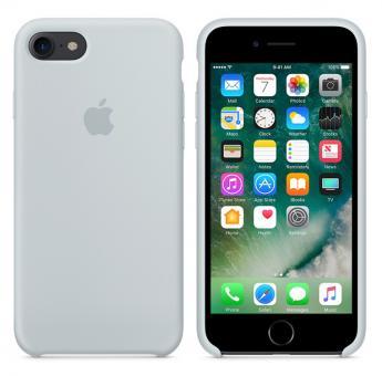 Apple iPhone 7 / 8 Silikon Case - Nebelblau