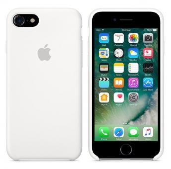 Apple iPhone 7 / 8 Silikon Case - Weiß