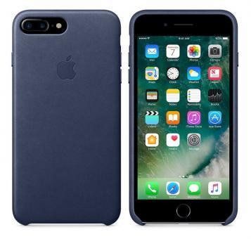 Apple iPhone 7 Plus / 8 Plus Leder Case - Mitternachtsblau