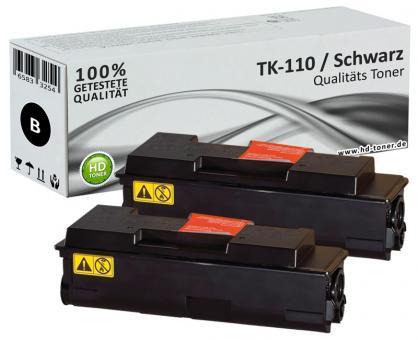 Alternativ Kyocera Toner TK-110 Schwarz Doppelpack