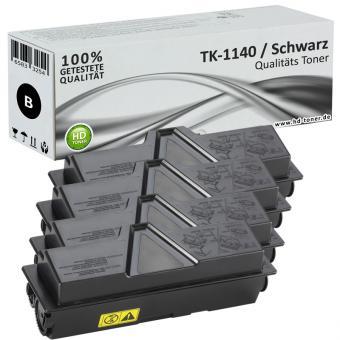 Set 4x Alternativ Kyocera Toner TK-1140 Schwarz