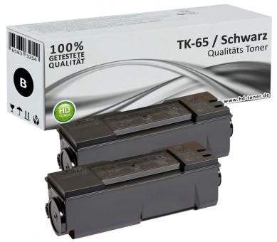 Set 2x Alternativ Kyocera Toner TK-65 Schwarz