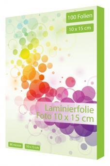 Laminierfolie Foto 10 x 15 cm - 80 mic - 100 Folien
