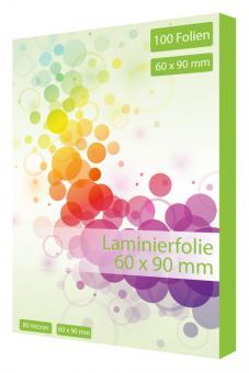 Laminierfolie Visitenkarte 60 x 90 mm - 125 mic - 100 Folien