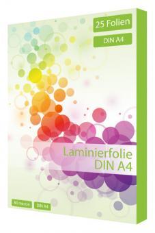 Laminierfolie DIN A4 - 80 mic - 25 Folien