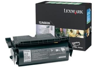Original Lexmark Toner 12A6839 Schwarz