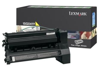 Original Lexmark Toner 15G041Y Gelb