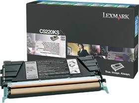 Original Lexmark Toner C5220KS Schwarz