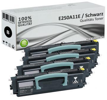 Set 4x Alternativ Lexmark Toner E250 E350 E250A11E