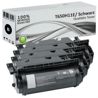 Set 4x Alternativ Lexmark Toner XL T650H11E T650 Schwarz