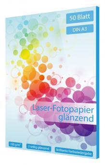 Laser Fotopapier DIN A3 - glänzend - 160g - 50 Blatt